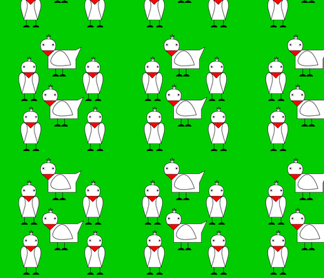 Chickens fabric by alexsan on Spoonflower - custom fabric