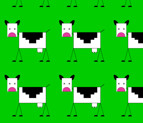 Cow fabric by alexsan on Spoonflower - custom fabric
