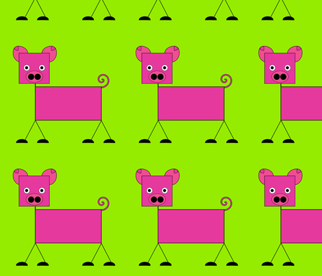 Pig fabric by alexsan on Spoonflower - custom fabric