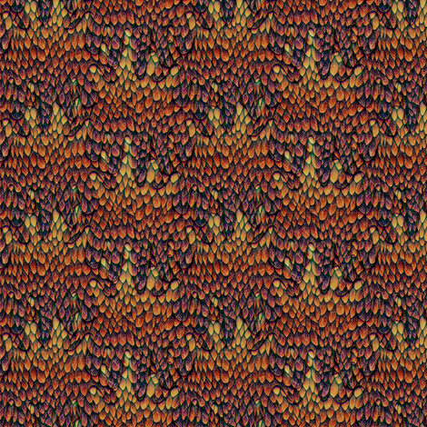 Jeweled Autumn Dragon fabric by glimmericks on Spoonflower - custom fabric