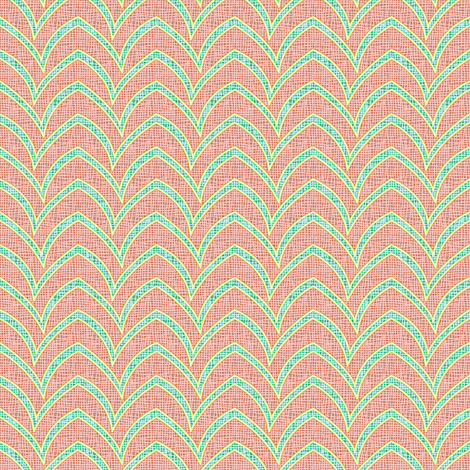 Flying Stripe - Beach Flamingo fabric by glimmericks on Spoonflower - custom fabric