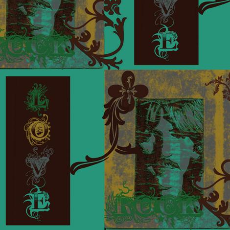 ROCK ON  LOVE fabric by paragonstudios on Spoonflower - custom fabric