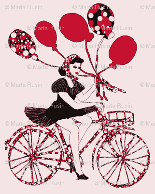 pin-up with balloons