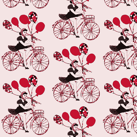 pin-up with balloons fabric by kociara on Spoonflower - custom fabric
