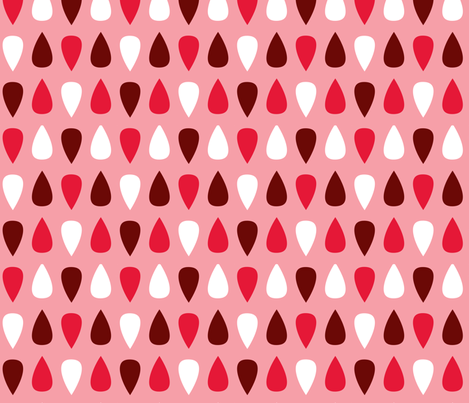 Gouttes rouges fabric by petitspixels on Spoonflower - custom fabric