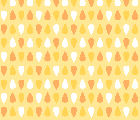 Gouttes oranges fabric by petitspixels on Spoonflower - custom fabric