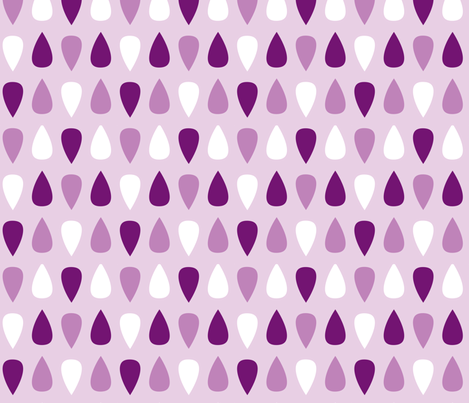 Gouttes violettes fabric by petitspixels on Spoonflower - custom fabric