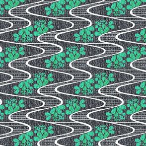 Urban Meanderings - Turquoise Splash