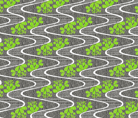 Urban Meanderings - Lime Splash fabric by glimmericks on Spoonflower - custom fabric