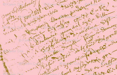 French Script Pink Dollhouse