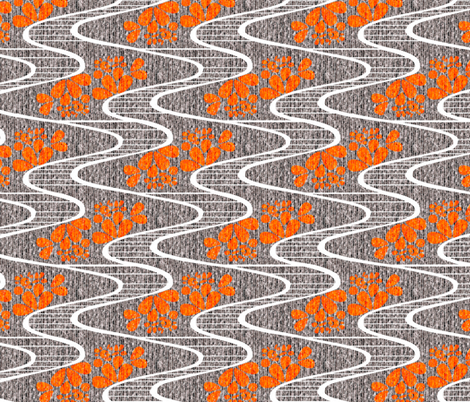 Urban Meanderings - Orange Splash fabric by glimmericks on Spoonflower - custom fabric