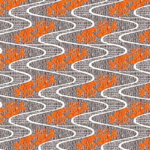 Urban Meanderings - Orange Splash