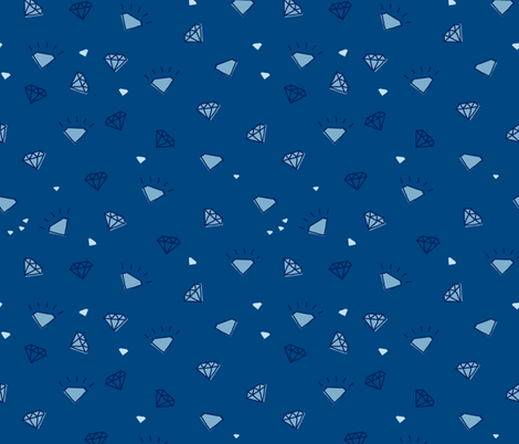 ditsy diamonds_dark blue fabric by owls on Spoonflower - custom fabric