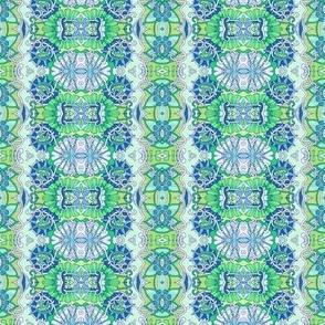 Aqua/Green Minuet Vertical Stripe