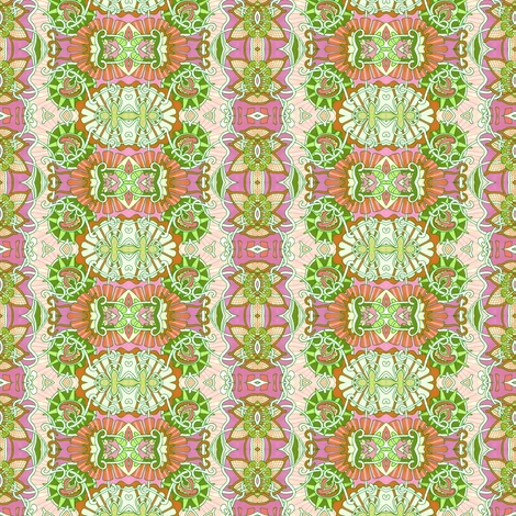 Lime/Orange/Raspberry Minuet Vertical Stripe fabric by edsel2084 on Spoonflower - custom fabric