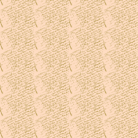 French Script, Creamsicle Dollhouse fabric by karenharveycox on Spoonflower - custom fabric