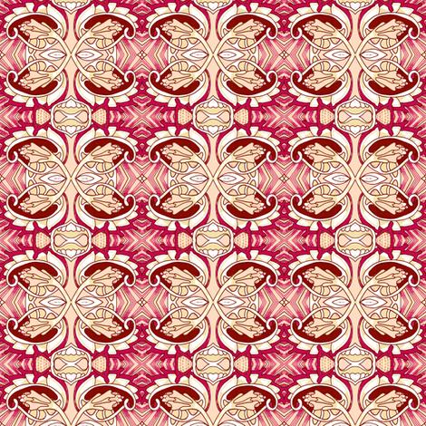 Four Way Buds fabric by edsel2084 on Spoonflower - custom fabric