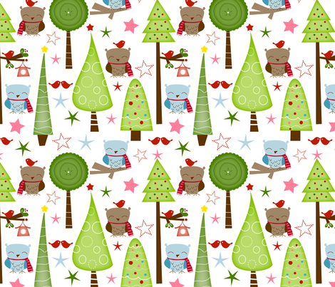 christmas in the woods fabric by emilyb123 on Spoonflower - custom fabric