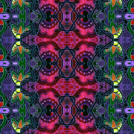 Tie Dye Tropical Hippie Gypsy fabric by edsel2084 on Spoonflower - custom fabric