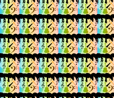 BEATLES IN COLOR fabric by bluevelvet on Spoonflower - custom fabric