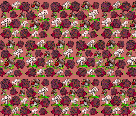 HEDGEHOGS fabric by bluevelvet on Spoonflower - custom fabric