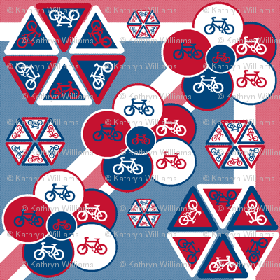 Bicycle flowers on Union Jack