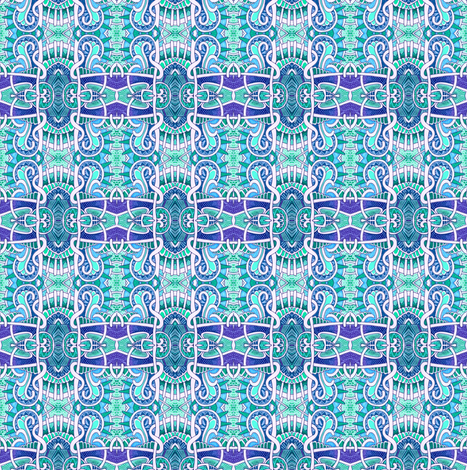 Mutant Blue Square Plaid fabric by edsel2084 on Spoonflower - custom fabric