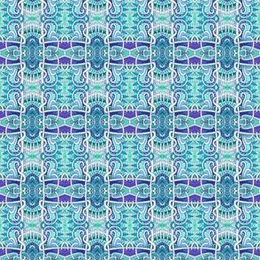 Mutant Blue Square Plaid