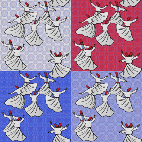 Whirling Dervish Competition, 1964 fabric by su_g on Spoonflower - custom fabric