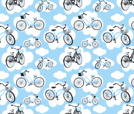 Heavenly Cruisers (Bike Heaven) fabric by deesignor on Spoonflower - custom fabric