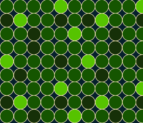 Green Circles fabric by nuuk on Spoonflower - custom fabric
