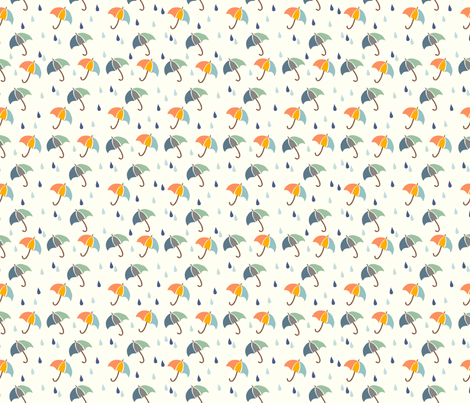 Rainy Days fabric by fabricdrawer on Spoonflower - custom fabric