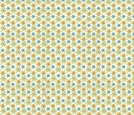 Floral Garden Green fabric by fabricdrawer on Spoonflower - custom fabric