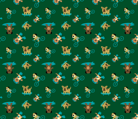 Sport Dogs fabric by wastedwings on Spoonflower - custom fabric