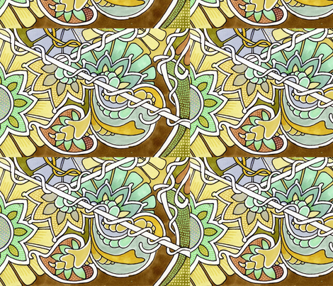 Chocolate Paisley Garden  fabric by edsel2084 on Spoonflower - custom fabric