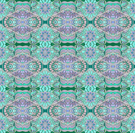 Pastel Hexagon Garden fabric by edsel2084 on Spoonflower - custom fabric