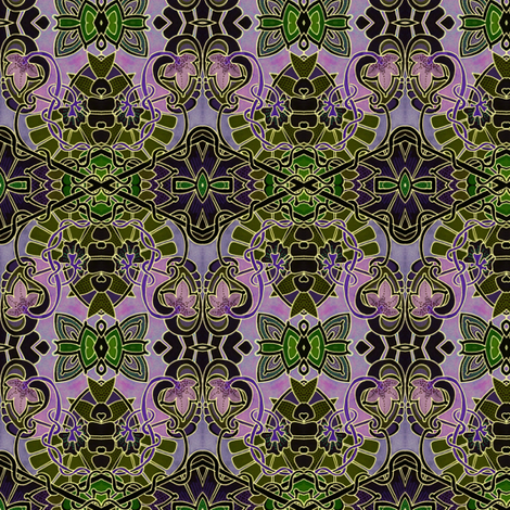 A Mid Summer Twilight fabric by edsel2084 on Spoonflower - custom fabric