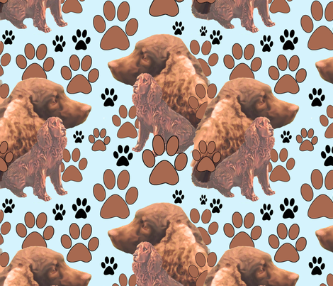 American_Water_Spaniel_ fabric by dogdaze_ on Spoonflower - custom fabric
