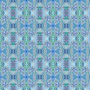 Blue Buds Vertical Stripe
