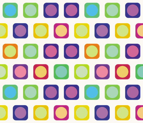 Circle Squares 2, L fabric by animotaxis on Spoonflower - custom fabric