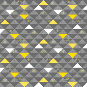 Le Tour Triangles Grey