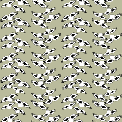 Sleep NO more ZigZag small fabric by themasquerade on Spoonflower - custom fabric