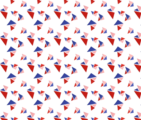 triangle redblue fabric by studiojelien on Spoonflower - custom fabric