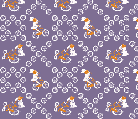 bunnybicyclebaby_YEAH fabric by leolietje on Spoonflower - custom fabric