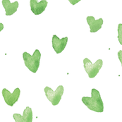 Mint Watercolor Hearts by C'EST LA VIV
