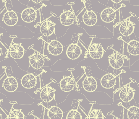 grey thread cycles fabric by wednesdaysgirl on Spoonflower - custom fabric