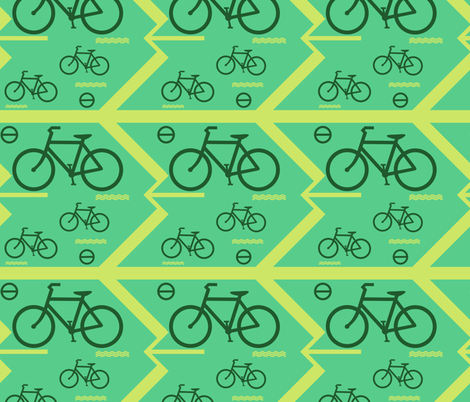 bicycle on the way fabric by raasma on Spoonflower - custom fabric