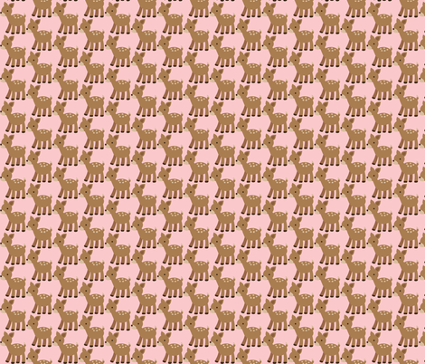 deer-ch-ch fabric by littlesproutbaby on Spoonflower - custom fabric