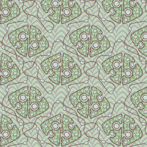 Royal_Jewels_-_Mint fabric by glimmericks on Spoonflower - custom fabric