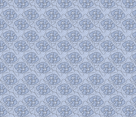 Royal_Jewels_-_Ice fabric by glimmericks on Spoonflower - custom fabric